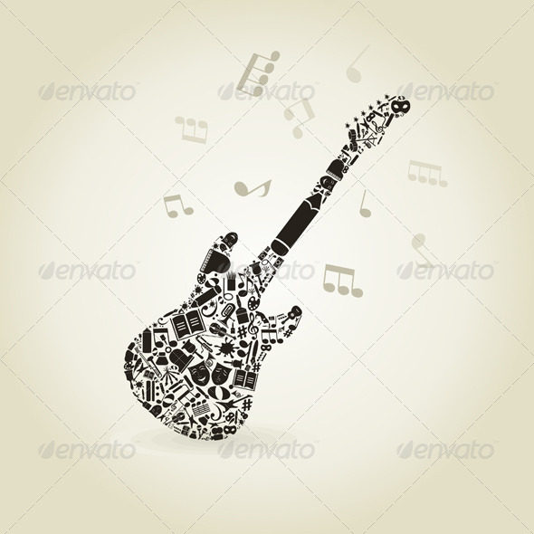 Art a Guitar - Miscellaneous Vectors