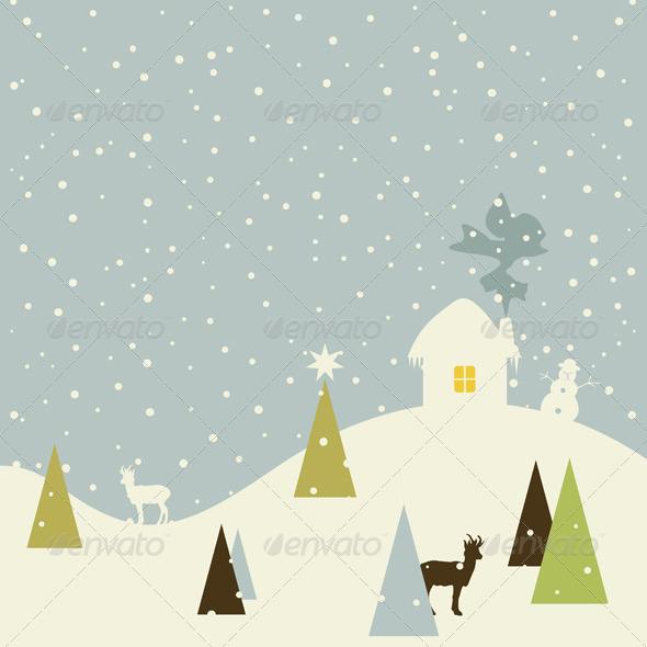 Christmas Small House - Christmas Seasons/Holidays
