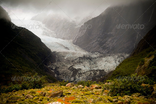 Franz Joseph Glacier - Stock Photo - Images