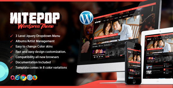 Nite Pop – Music Band/Artist WordPress Theme