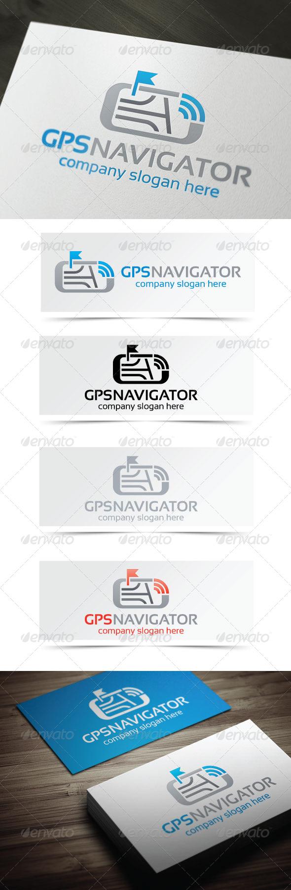 GPS Navigator - Objects Logo Templates