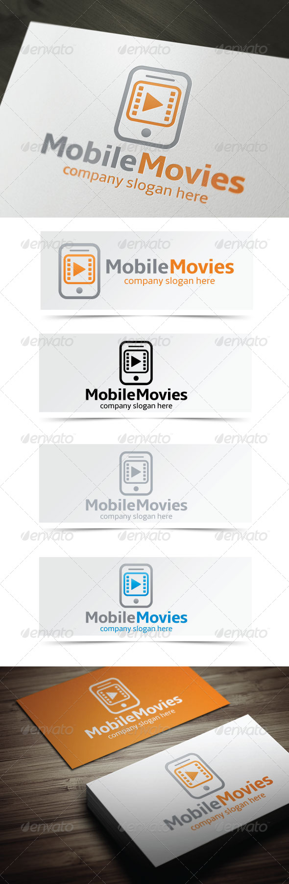 Mobile Movies - Objects Logo Templates