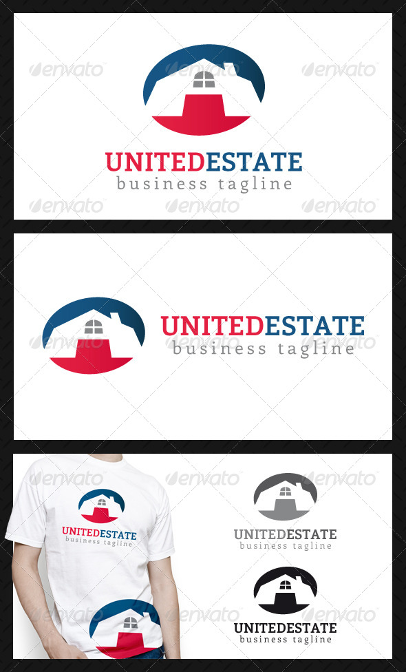 United Real Estate Logo Template - Buildings Logo Templates