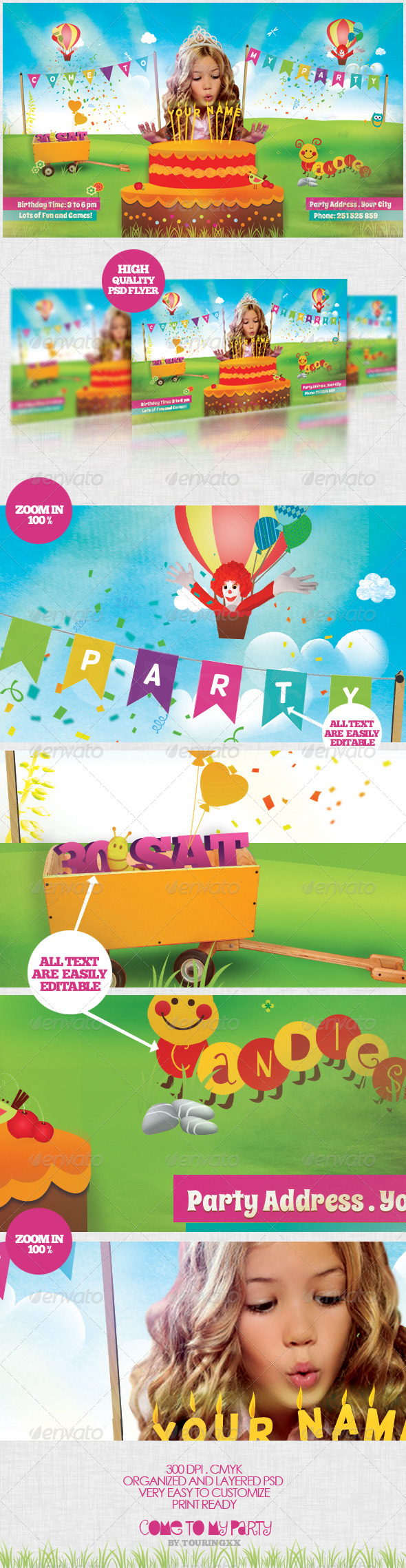 Come To My Party Flyer Template - Flyers Print Templates