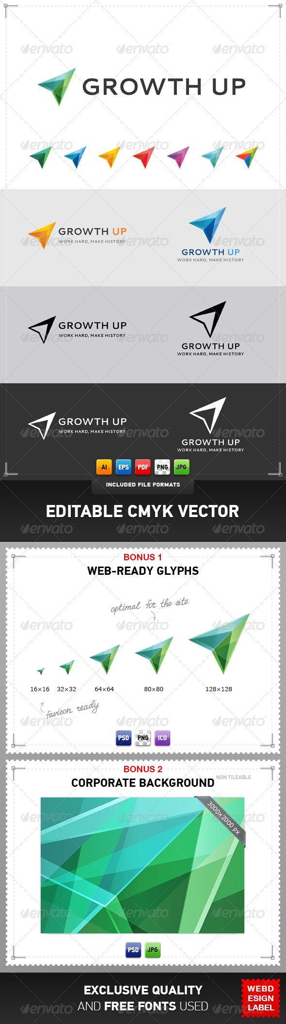 Growth Up Logo - Symbols Logo Templates