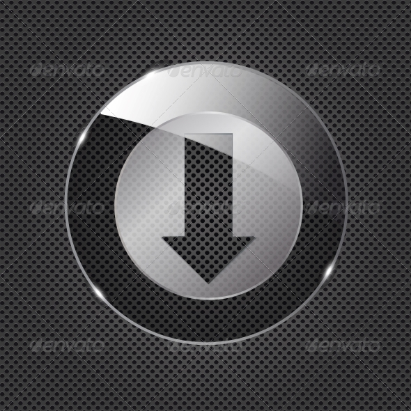 Glass Download Button - Web Elements Vectors