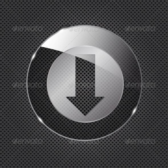 Glass Download Button - Web Elements Vectors