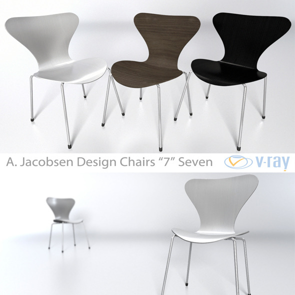Arne Jacobsen 7 chair - 3DOcean Item for Sale
