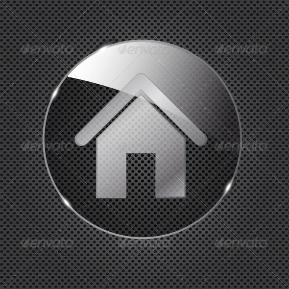 Glass Home Button - Web Technology