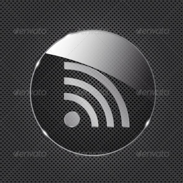 Glass RSS Button - Web Technology