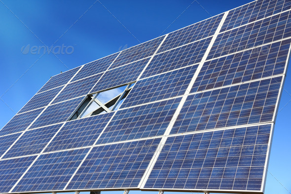 big photovoltaic solar panel - Stock Photo - Images