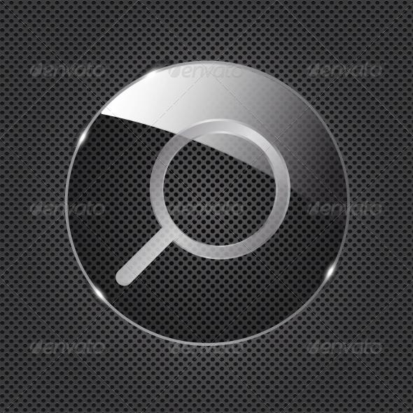 Glass Search Button - Web Elements Vectors
