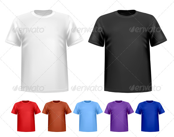 Men's T-Shirt Design Template - Commercial / Shopping Conceptual