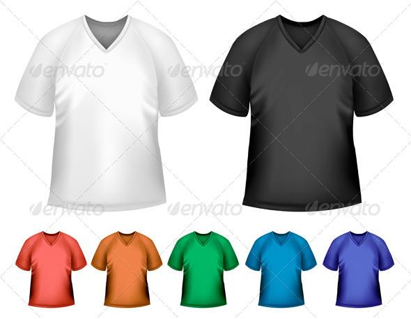 Men's T-Shirt Design Template - Commercial / Shopping Conceptual