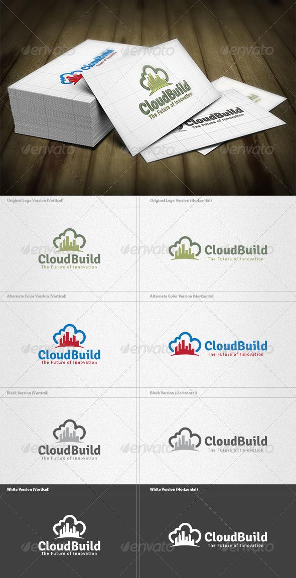 Cloud Building Logo - Buildings Logo Templates