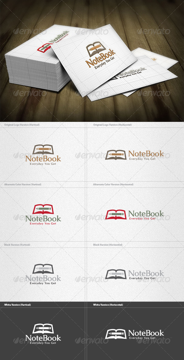 Note Book Logo - Objects Logo Templates