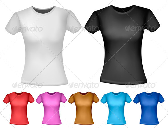 Woman T-Shirt Design Template - Commercial / Shopping Conceptual