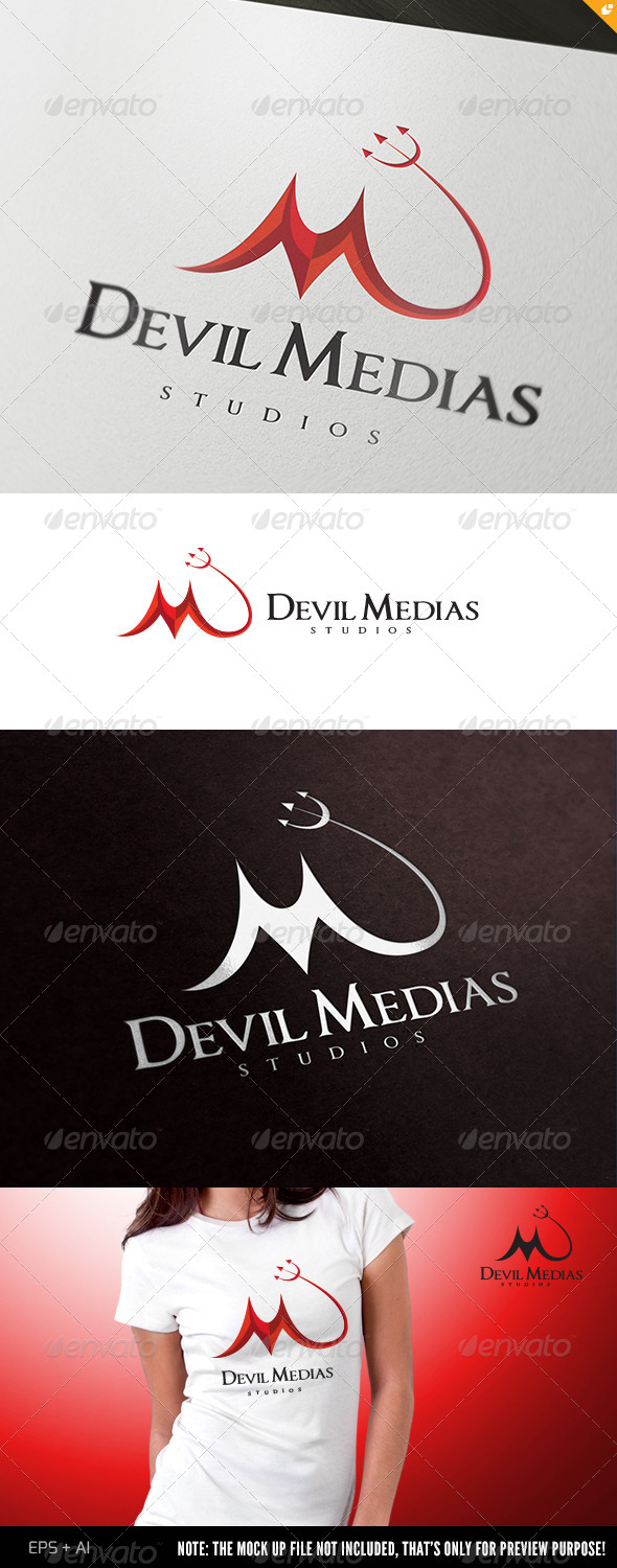 Devil Medias Logo - Humans Logo Templates
