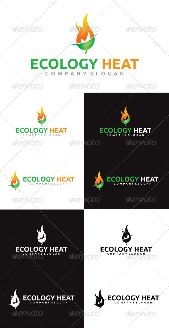 Ecology Heat Logo Template - Nature Logo Templates