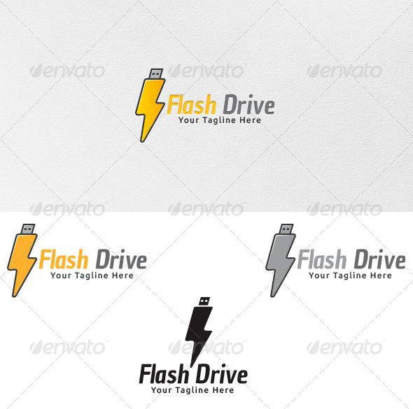 Flash Drive - Logo Template - Symbols Logo Templates