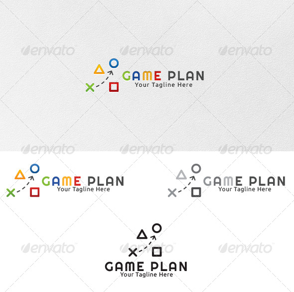 Game Plan Logo Template By Martinjamez GraphicRiver - Game plan template