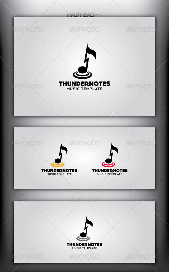 THUNDER NOTES Logo Template - Symbols Logo Templates