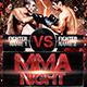 Fight or MMA Night Flyer Template  - GraphicRiver Item for Sale