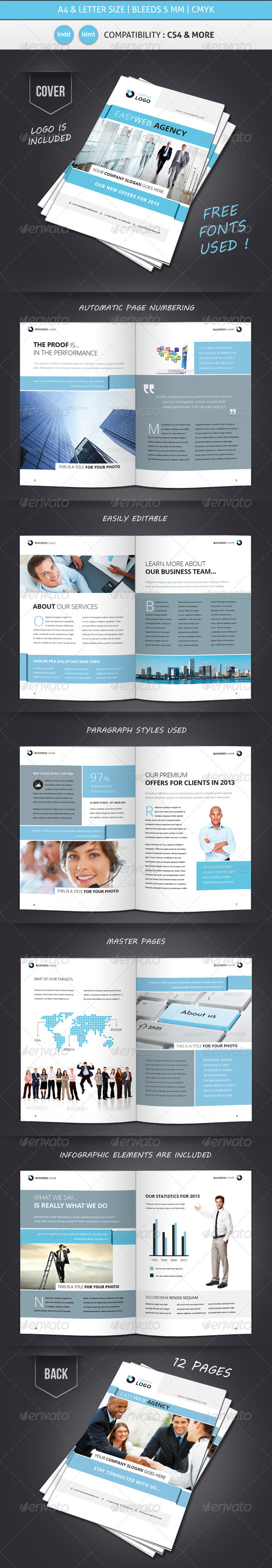 Corporate & Business Brochure Template Design - Corporate Brochures