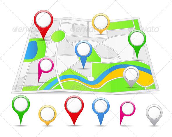 Map Pins - Miscellaneous Vectors