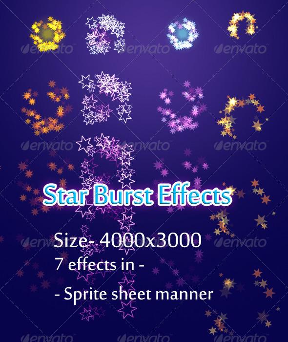 Starburst Effects - Sprites Game Assets