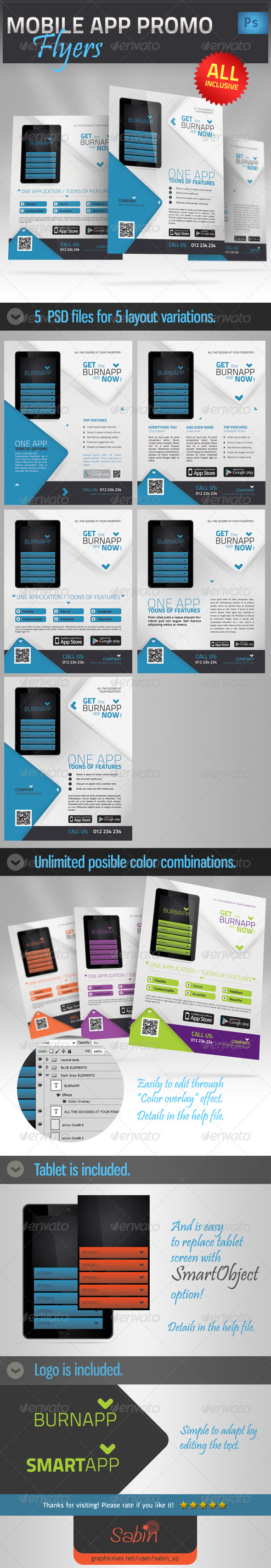 Mobile App Promotion Flyer - Commerce Flyers