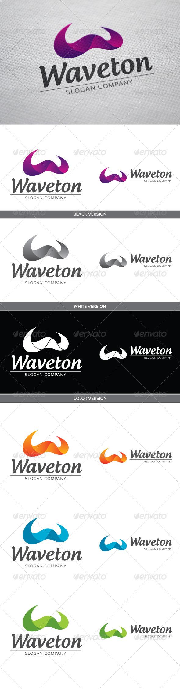 Waveton - Letters Logo Templates