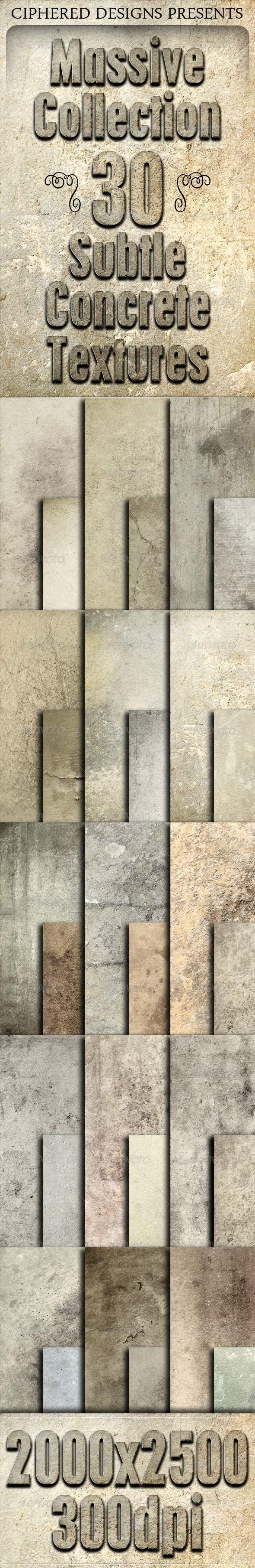 Massive Collection - 30 Subtle Concrete Textures - Concrete Textures