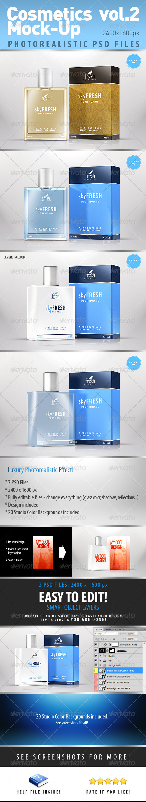 Cosmetics Photorealistic Mock-Up vol.2 - Product Mock-Ups Graphics