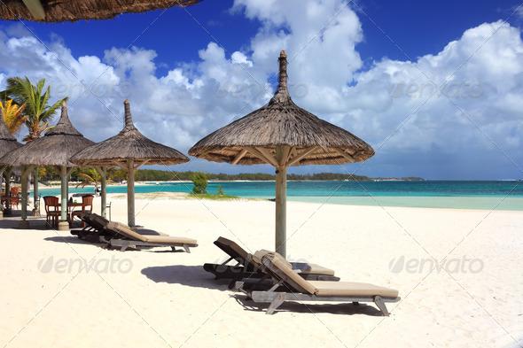 resort beach - Stock Photo - Images