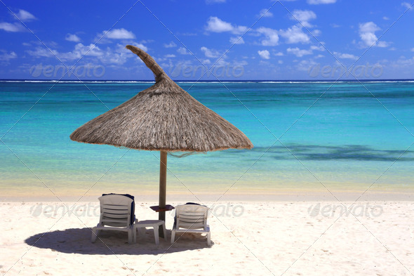 tropical beach in dream island - Stock Photo - Images