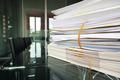 Files on meeting room desk - PhotoDune Item for Sale