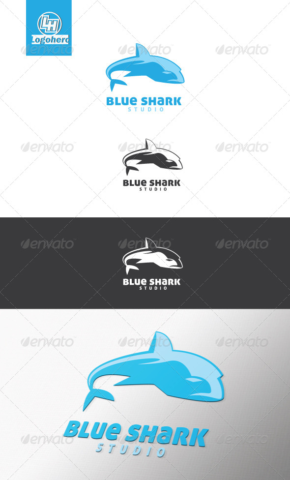 Blue Shark Logo Template - Animals Logo Templates