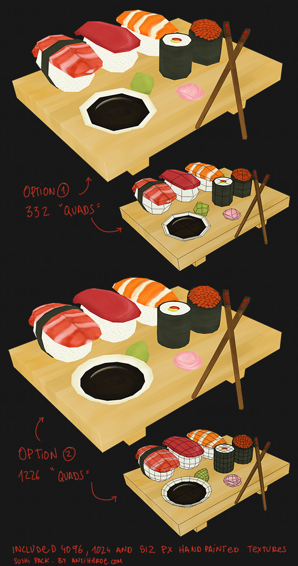 Sushi Pack - 3DOcean Item for Sale