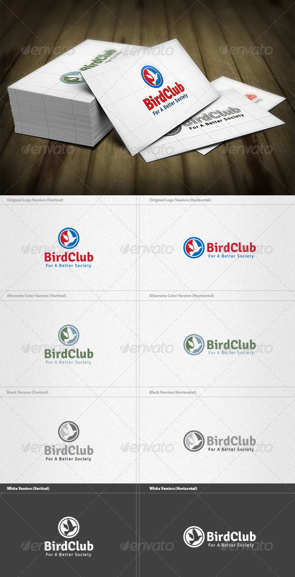 Bird Club Logo - Animals Logo Templates