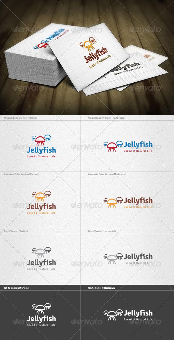 Jellyfish Logo - Animals Logo Templates