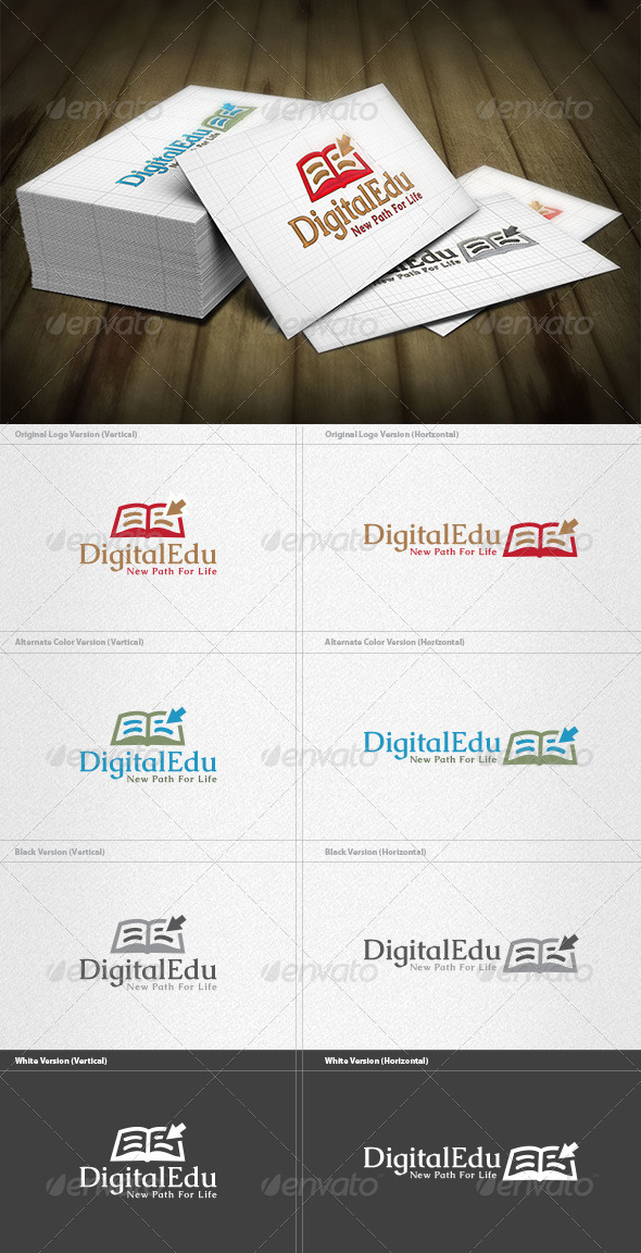 Digital Education Logo - Objects Logo Templates