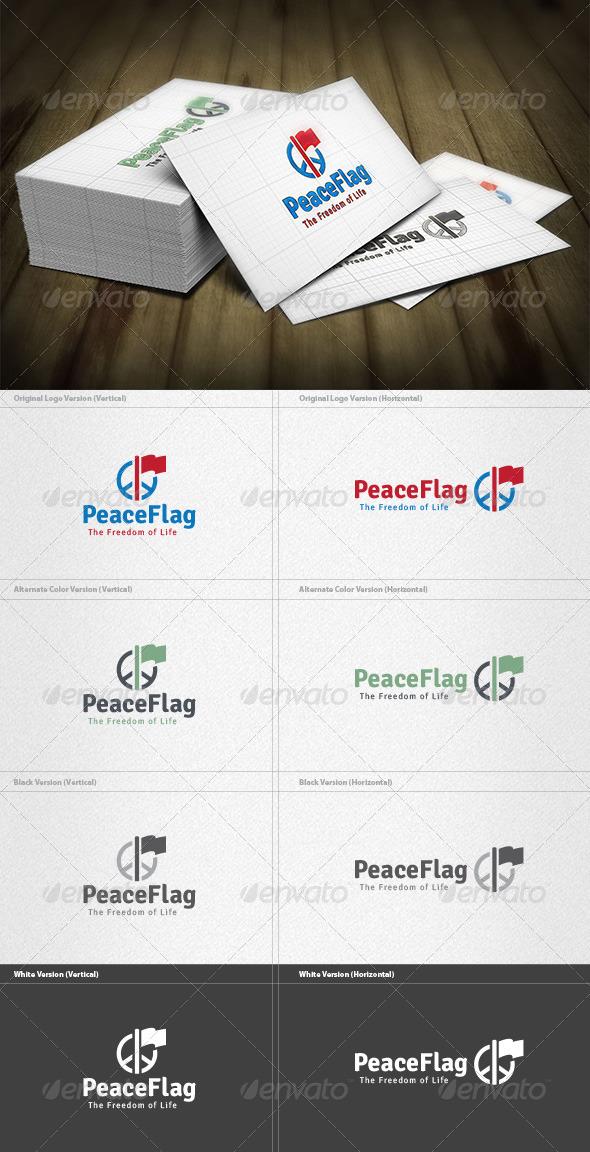 Peace Flag Logo - Objects Logo Templates