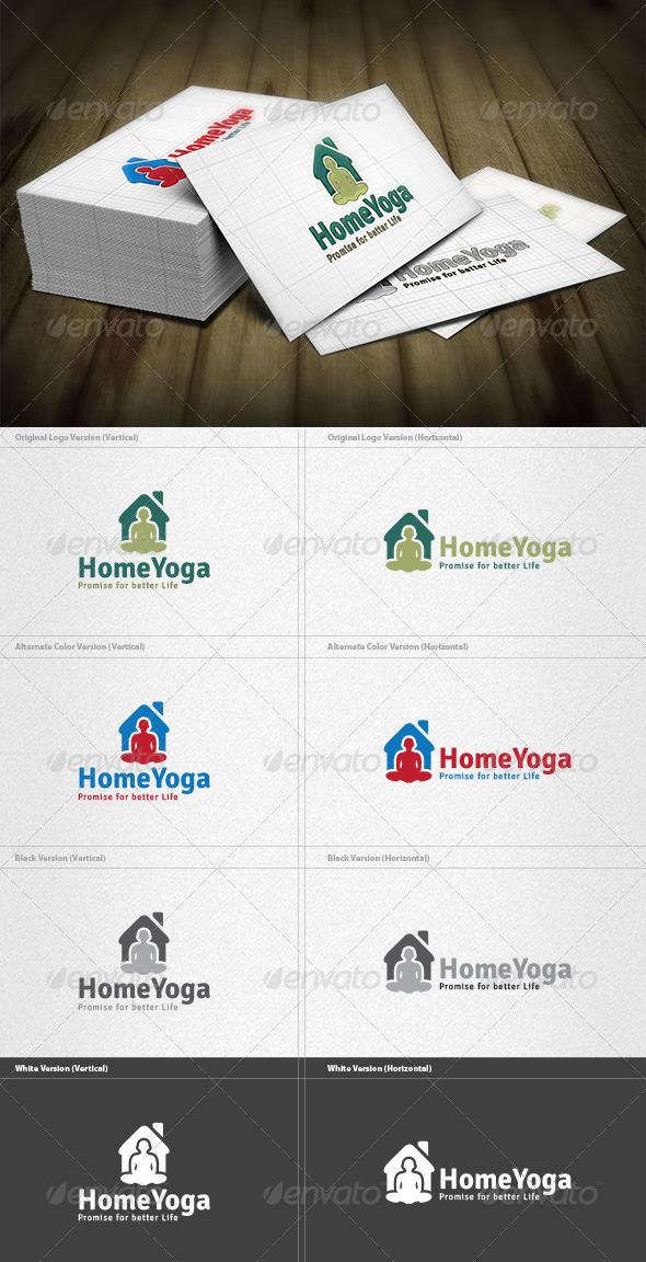 Home Yoga Logo - Vector Abstract