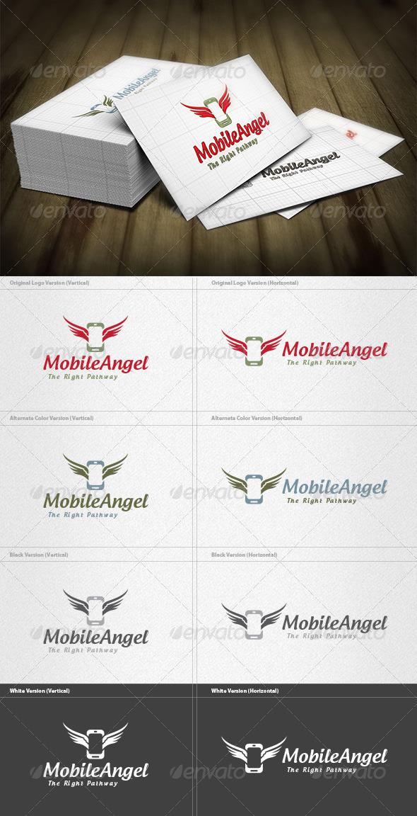 Mobile Angel Logo - Objects Logo Templates