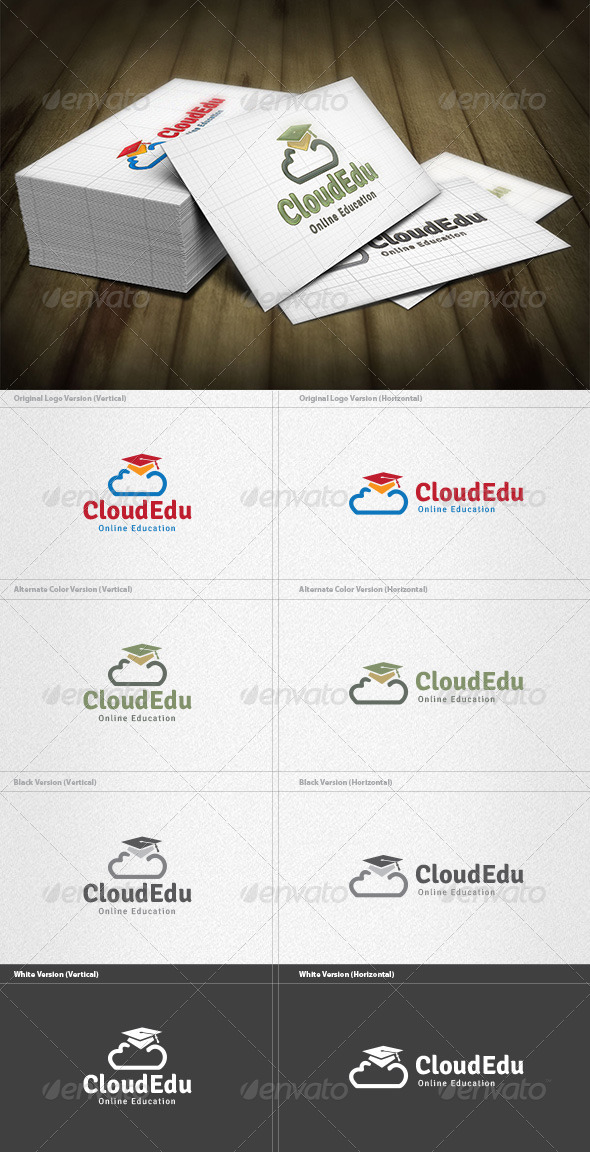 Cloud Education Logo - Symbols Logo Templates