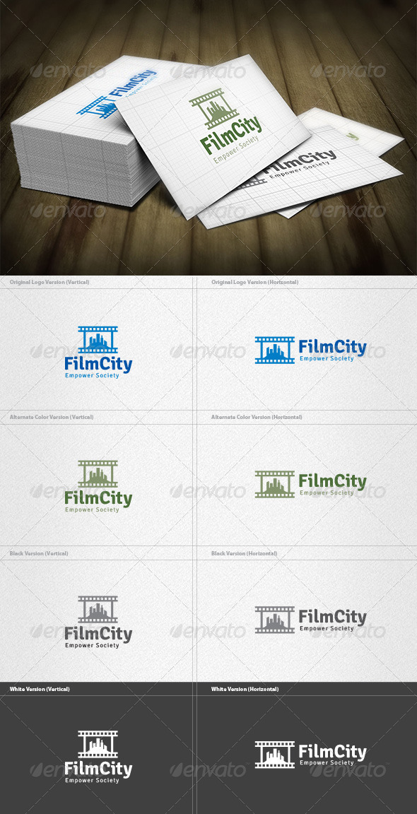 Film City Logo - Buildings Logo Templates