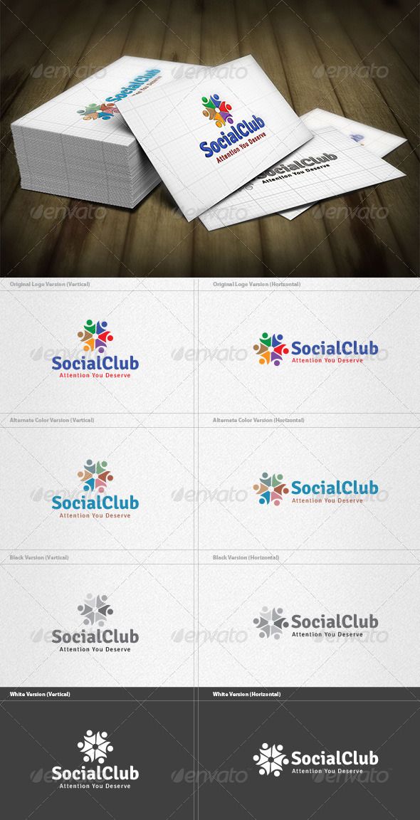 Social Club Logo - Humans Logo Templates