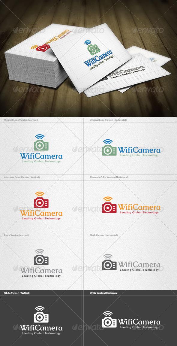 Wifi Camera Logo - Objects Logo Templates