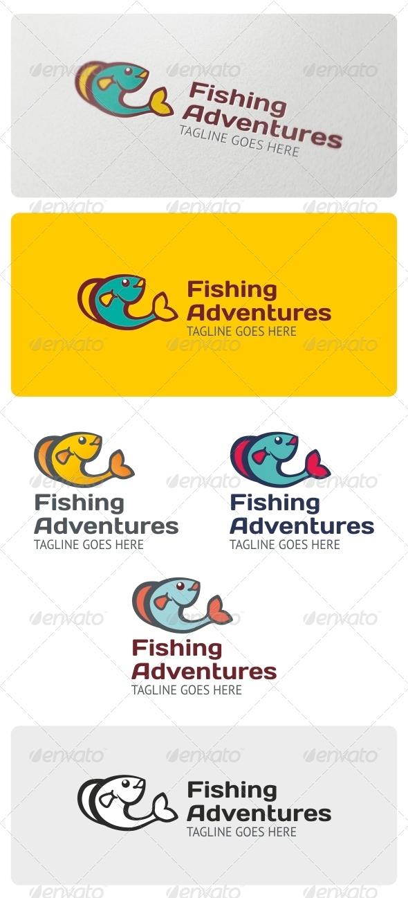 Fishing Adventures Logo Template - Animals Logo Templates